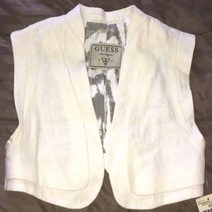 Linen crop vest by GUESS🌸